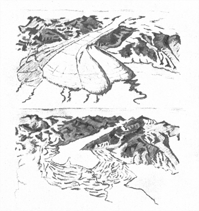 Azione erosiva dei ghiacciai sul Garda