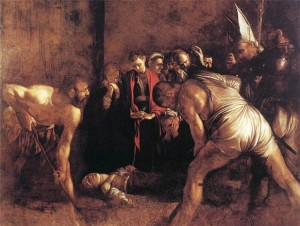 La sepoltura di Santa Lucia (Opera del Caravaggio esposta nella Chiesa di Santa Lucia in Siracusa)